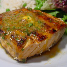 Grilled Salmon With Chipotle-Herb Butter