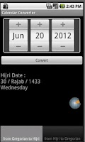 Screenshot of Calendar Converter