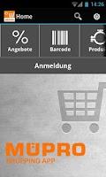 Screenshot of MÜPRO Shopping