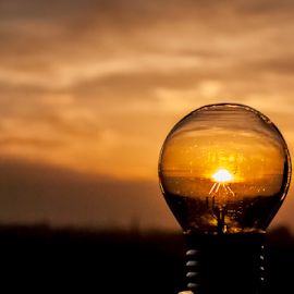 Sunlight by Paul Dizmacsek - Artistic Objects Other Objects ( sunset, bulb, timisoara, light, sun )