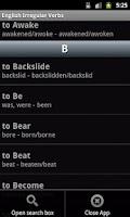 Screenshot of English Irregular Verbs