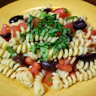 Pasta With Fresh Tomato Concassé And Olives