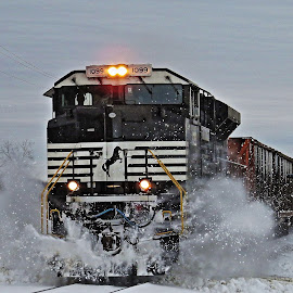 Crossing Through by Brooks Travis - Transportation Trains ( sd70ace, norfolk southern, canon sx50,  )