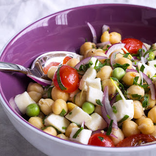 Chickpeas, Green Peas & Tomato Greek Salad