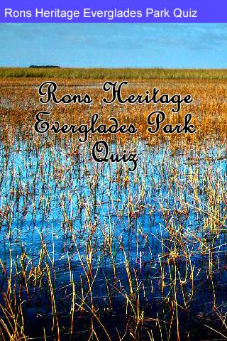 Rons Everglades Park Quiz