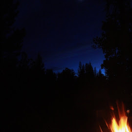 Cool pic I got camping :) by Michelle Terry - Abstract Fire & Fireworks