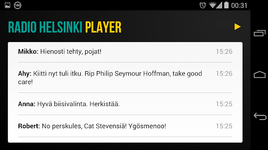 Radio Helsinki Player - screenshot