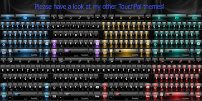 Screenshot of Dusk Purple TouchPal Theme