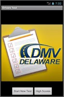 Screenshot of Delaware Practice Drivers Test