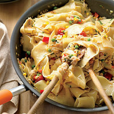 Crab-and-Corn Ribbon Pasta