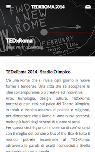 TEDxRoma - screenshot