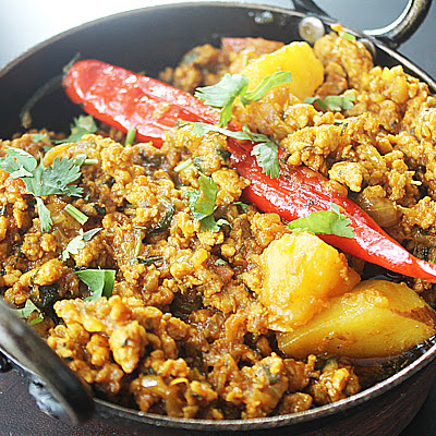 Chicken Keema Aloo Balti