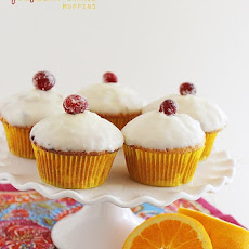Glazed Cranberry Orange Muffins