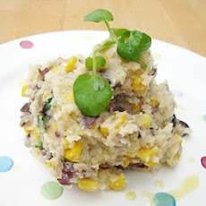 Bean, Sweetcorn and Potato Mash