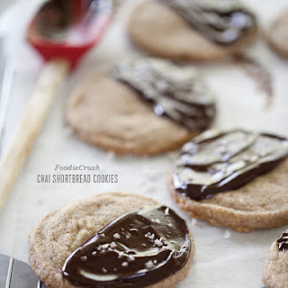 Chai Shortbread Cookies with Sea Salt