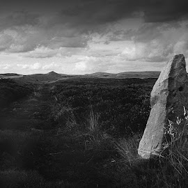 The Last Post by Guy Evans - Landscapes Weather ( mountains, skyline, black and white, landscape )