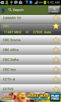 Screenshot of Nile Sat Channels Frequencies