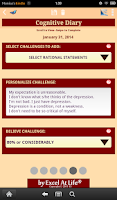 Screenshot of Depression CBT Self-Help Guide