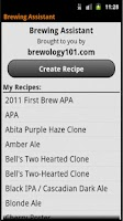 Screenshot of Brewing Assistant