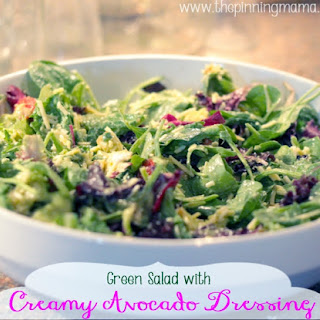 Green Salad with Creamy Avocado Dressing