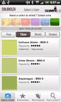 Screenshot of ColorClix by Olympic® Paint
