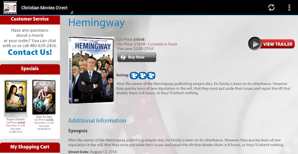App Christian Movies Direct APK for Windows Phone ... Christianbook.com/apps/account/downloads