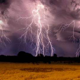 Thunder on the horizon by Craig Eccles - News & Events Weather & Storms ( thunder, lightning strike, lightning, lightning bolt, thunder bolt., weather, thunder storm, storm )