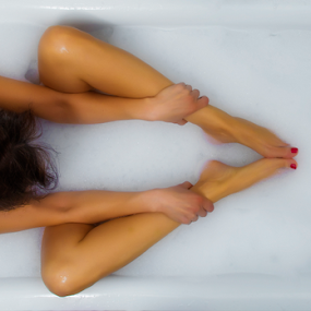 human arrow by John Iosifidis - Nudes & Boudoir Artistic Nude ( water, girl, woman, arrow, bath, tub, foam )