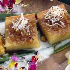 Custard Cake with Caramelized Pineapple