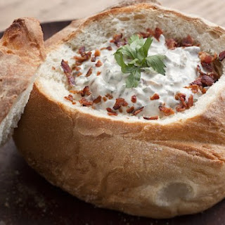 Bread Bowl Alert! Make This Savory Stuffed Mushroom Dip