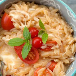 Tomato, Mozzarella and Basil Orzo (adapted from Emeril Lagasse)