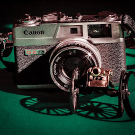 Canon Fire by William Boyea - Artistic Objects Business Objects ( canon, toy, green, artistic, lens, antique )