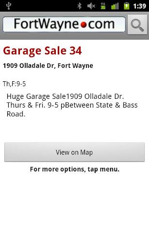 【免費購物App】Ft. Wayne Garage Sales-APP點子