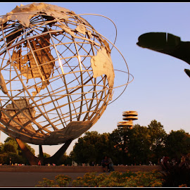 The Light of the World!   by Dale Carney - Buildings & Architecture Statues & Monuments ( 1964 worlds fair, parks, worlds fair, corona park, world )