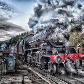 Steam! by Dez Green - Transportation Trains ( steam train, railroad, railways, trains, steam )