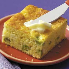 Broccoli-Cheese Corn Bread (cottage cheese and jalapeno slices)