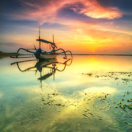 Boat of Mertasari  by Bayu Adnyana - Transportation Boats ( bali, sunrise, transportation, landscapes, boat )