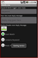 Screenshot of iNotify Lite - Auto Text Reply
