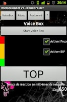 Screenshot of Robocoach Voice Box