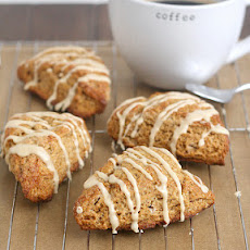 Gingerbread Scones with Maple Glaze
