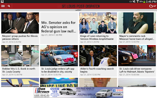 Screenshot of St. Louis Post-Dispatch