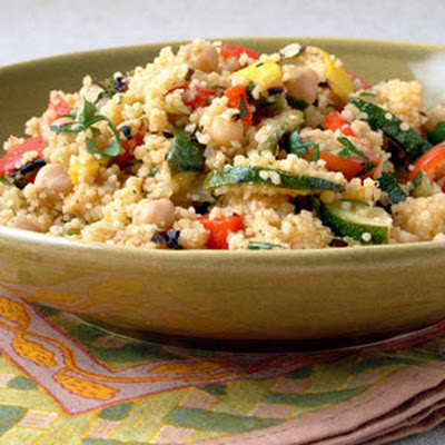 Grilled Vegetables and Chickpeas with Couscous