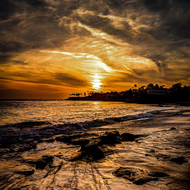 Laguna Beach Sunset - Rocky by Luke McDannel - Landscapes Sunsets & Sunrises ( laguna beach, sunset, beach )