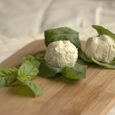Basil-Wrapped Goat Cheese