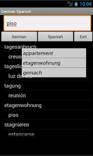 German Spanish Dictionary - screenshot