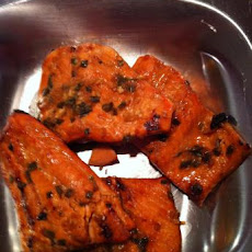 Grilled Orange and Bourbon Salmon