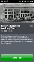 Screenshot of Redmond Walking Tour