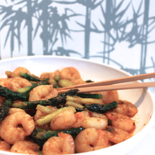 Stir-fried Shrimps & Asparagus