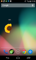 Screenshot of Flower Battery Indicator