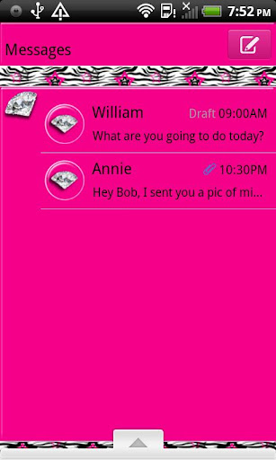 GO SMS THEME DiamondZebra4U